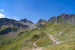 高涨在瑞士阿尔卑斯 库存照片