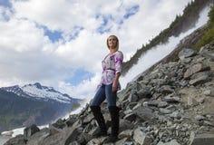 高涨在阿拉斯加 免版税库存照片