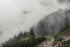 高涨在雾 免版税库存照片
