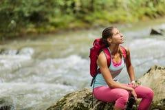 高涨妇女的森林 免版税库存图片