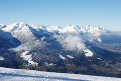 高涨路径在朱利安阿尔卑斯 免版税库存照片