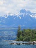 高涨路径在朱利安阿尔卑斯 库存照片