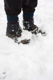 高涨雪的启动 免版税库存照片