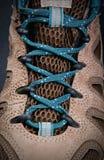 高涨鞋带的启动 图库摄影