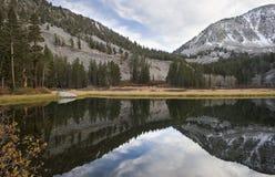 高湖山风景山脉 免版税库存图片