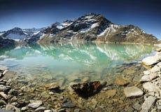 高湖mountaines 库存图片
