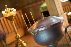 高热金属在教会里 免版税图库摄影
