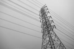 高电缆绳 库存图片