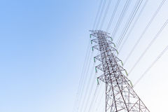 高电缆绳 免版税库存图片