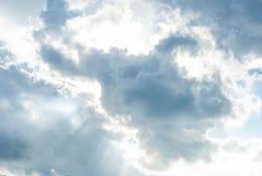 高的云彩 免版税库存照片