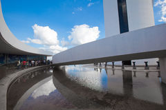 为对巴西利亚数字式电视塔的通入Ramp 库存图片