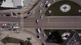 高的公路交叉点和互换天桥在天交通运输 股票录像