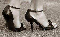 高的脚跟 免版税库存照片