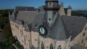 登高的Landgrafenschloss马尔堡 股票视频