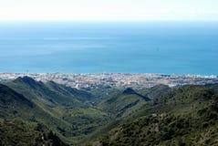 高的marbella西班牙视图 免版税库存图片