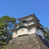 高知,日本- 2015年3月26日:高知城堡全视图  免版税库存图片