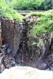 高秋天峡谷,威明顿,纽约,美国 免版税库存图片
