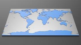 高科技世界地图 免版税库存图片