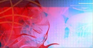 高科技技术背景。 免版税库存图片