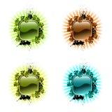 高科技按钮和光芒 免版税库存照片