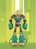 高科技未来派机器人 免版税库存照片