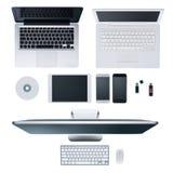 高科技桌面 免版税图库摄影
