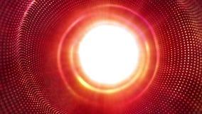 高科技红色小点的光滑的行动和白色发光 库存例证