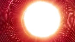 高科技红色小点的光滑的行动和白色发光 皇族释放例证