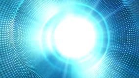 高科技蓝色小点的光滑的行动和白色发光 皇族释放例证