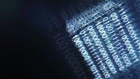 高科技蓝色数字式立方体背景 抽象动画 向量例证
