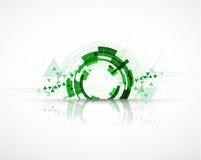 高科技eco绿色无限计算机科技概念backgro 库存例证