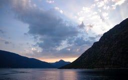 高积云,科托尔,黑山 库存照片