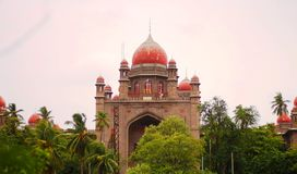 高等法院大厦在安得拉邦AP 免版税库存照片