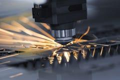 高精度CNC激光焊金属板 库存照片