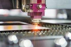高精度CNC激光焊金属板 库存图片