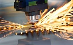 高精度CNC激光焊金属板 免版税图库摄影