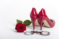 高红色的脚跟 免版税图库摄影
