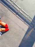 高红色的脚跟 免版税库存照片