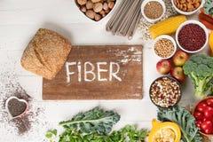 高纤维食物 库存图片