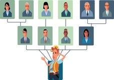 高级人员过多组织结构 免版税图库摄影