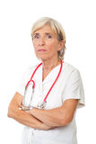 高级医师妇女 库存照片
