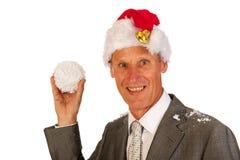 高级圣诞老人 免版税图库摄影