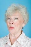 高级惊奇的妇女 免版税库存照片