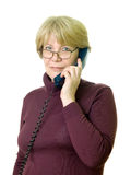 高级电话妇女 免版税库存图片