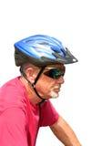 高级男性自行车骑士 免版税库存图片