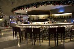 高级酒吧在旅馆里 免版税库存照片