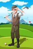 高级高尔夫球运动员 向量例证