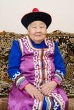 高级Buryat (蒙古语)妇女 库存图片