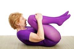 高级suppine瑜伽 免版税库存照片