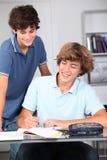 高纵向学校学员 免版税库存照片